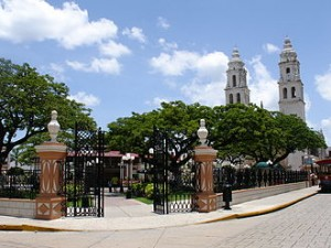 Campeche Plaza and Cathedral