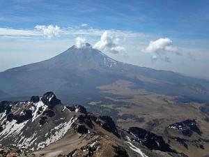 Popocatepetl Volcano in Puebla