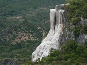 Waterfall at Hierve El Agua Mexico