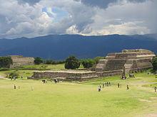Monte Alban Temple in Oaxaca