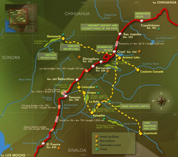 El Chepe Route Map